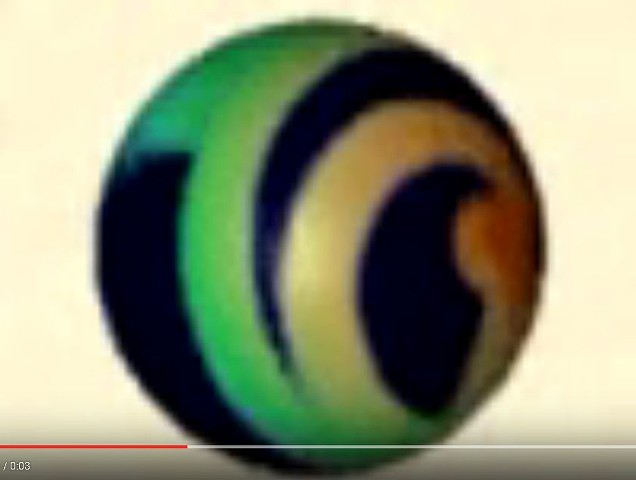 rotating logo sphere
