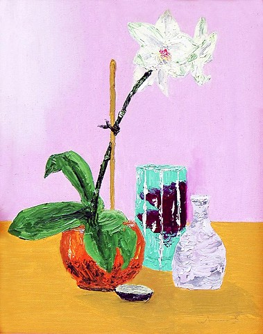Orchid and Pottery