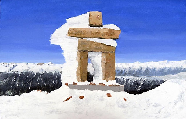 Inuksuk on top of Whistler Mountain