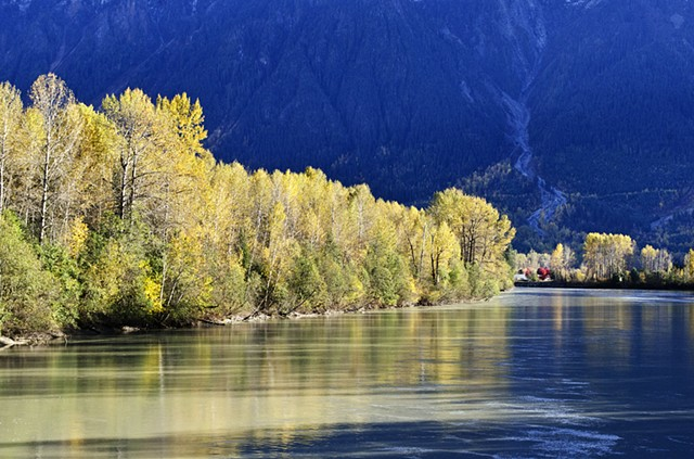 Fall, Autumn, River, Nature, Trees