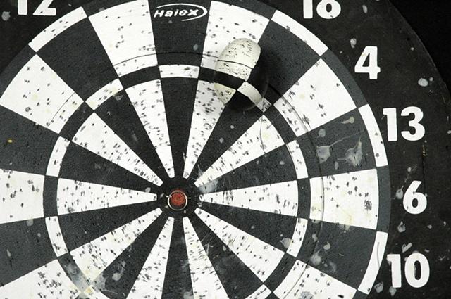 pysanky series: dart board