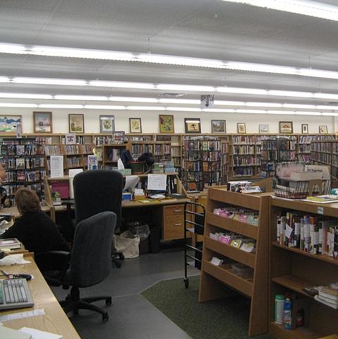 library interior installation view