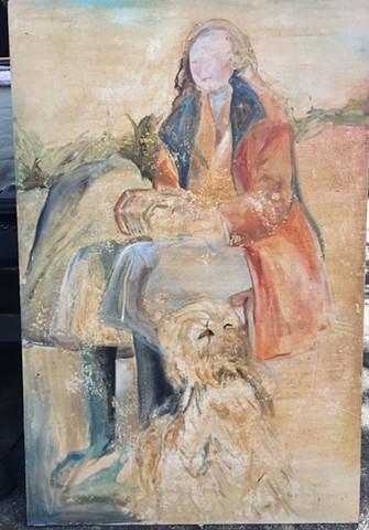 Irish lady with dog