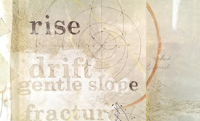 etsy Lohrer Hall, earth body landscape, patterns, translucency, text, maps