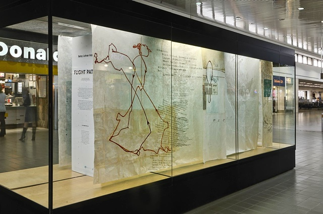 large scale installation, mixed media and rice paper