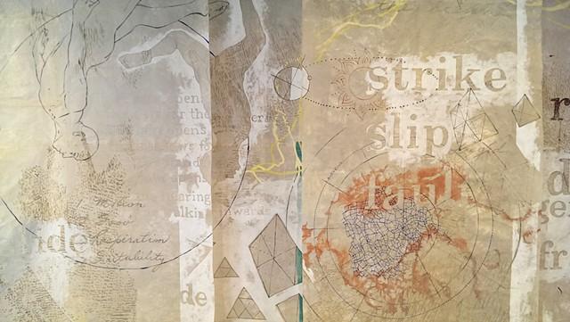 earth body landscape, patterns, translucency, text, maps