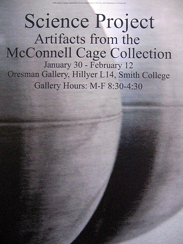 "Poster for ""Science Project: Artifacts from the McConnell Cage Collection"""