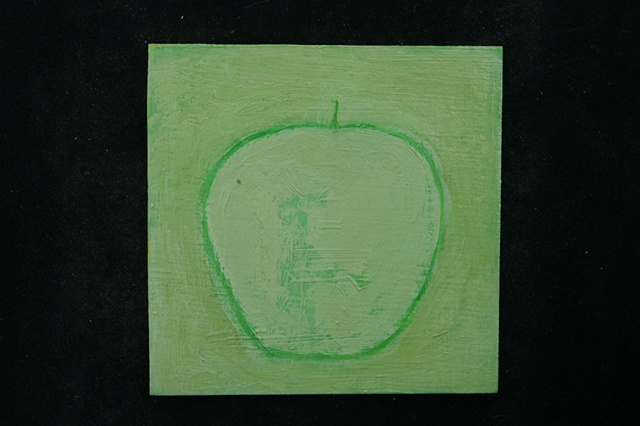 green apple on green