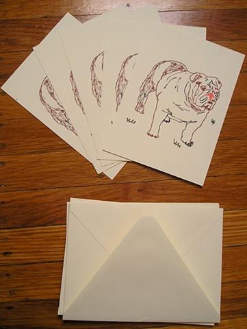 English Bulldog Card Set