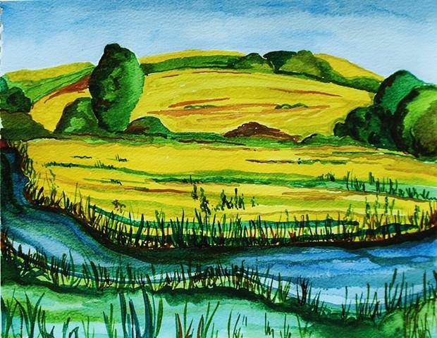 Wheat Fields in Normandy