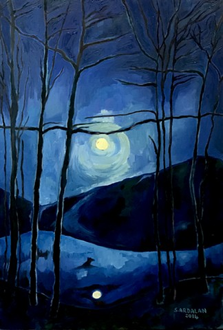 Moon Over Cross River Reservoir