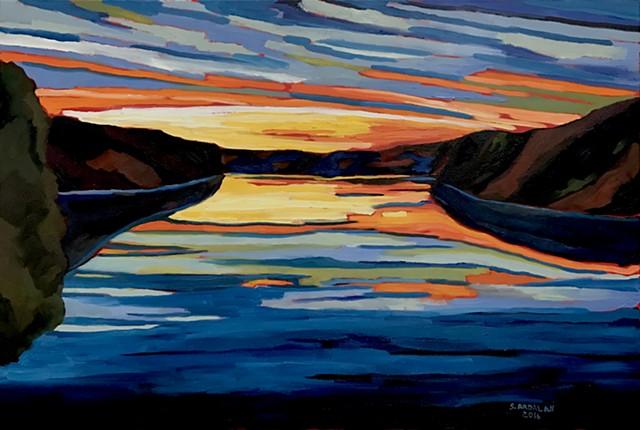 Sunrise over Cross River Reservoir II