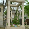 Another view of the structure with the Persian garden (Chahar Bagh); Montparnasse Cemetery, Paris, France.