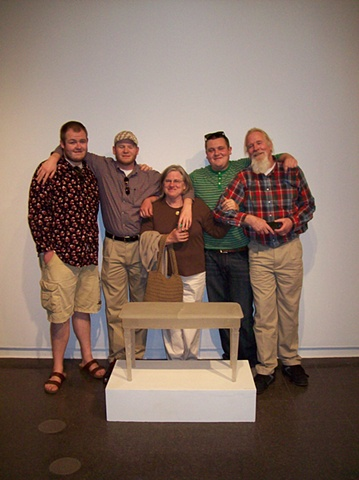 Photo of my Family at Senior Thesis Exhibition