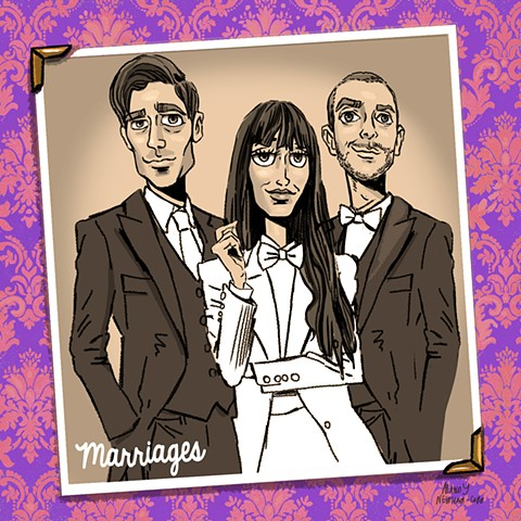 "illo of band ""Marriages"""