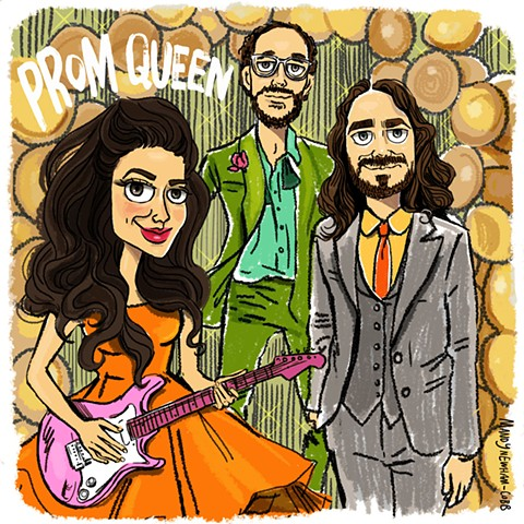 illo of Prom Queen! for Sessions from the Box :)