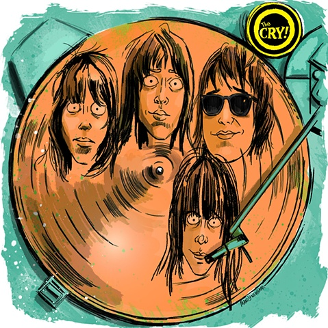 "illustration of ""The Cry"" band out of Portland, OR"