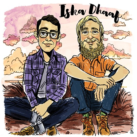 illo of Iska Dhaaf for Sessions from the Box