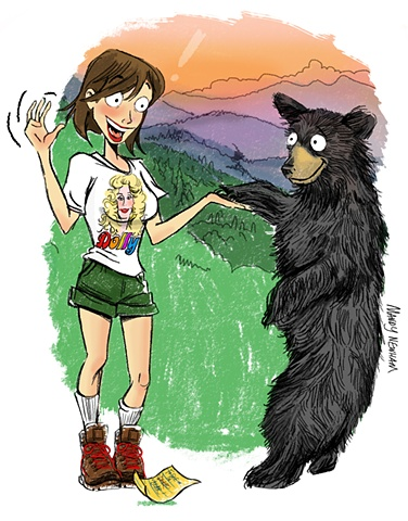 "Woman Meets Bear (for the ""Women of the Mountains"" issue of Smoky Mountain Living)"