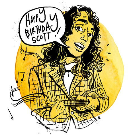 illo/card of Tiny Tim