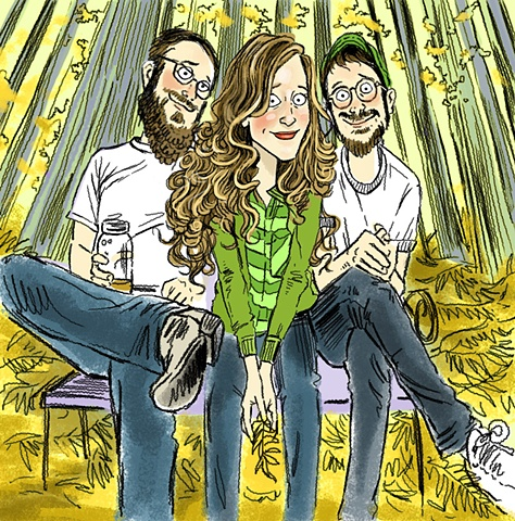 illustration of Raina Rose, Anthony da Costa, & Andrew Pressman