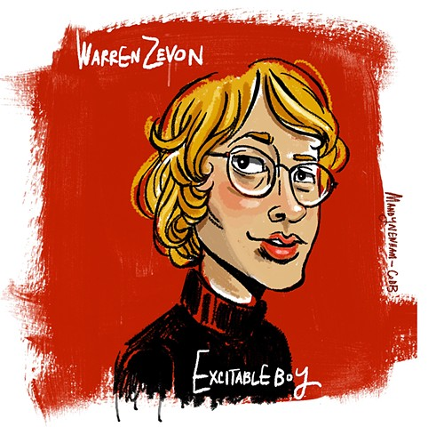 The excitable Warren Zevon