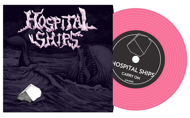 "vinyl record album art whale ""moby dick"" ""hospital ships"" band rock illustration graveface music"