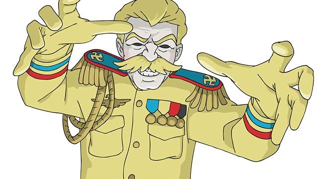 digital art illustration cartoon blonde stalin communism russia fascism evil