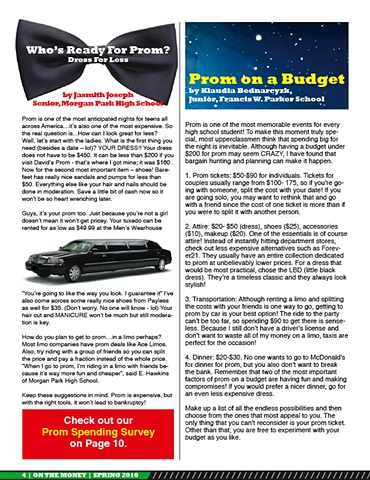 On The Money, Spring 2010, page 4