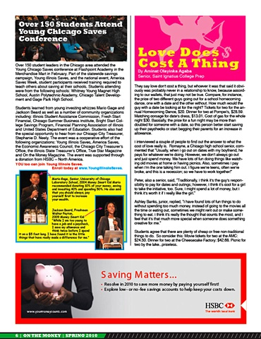 On The Money, Spring 2010, page 6