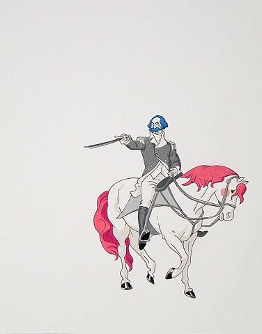 President on Horse