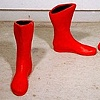 Red Stalin's Boots And Gloves