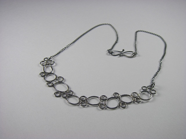 Tracy necklace, oxidized