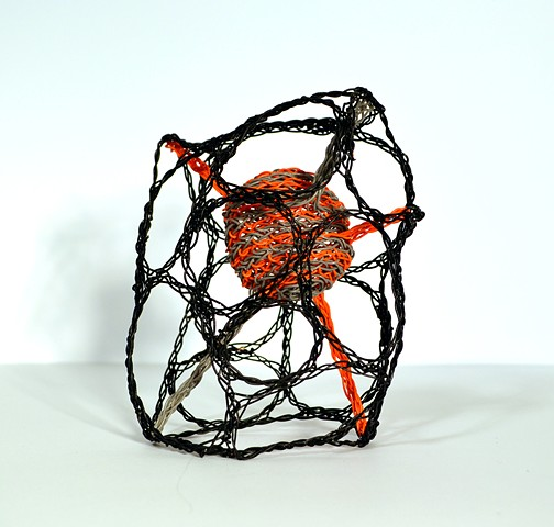telephone wire, telephone wire art, wire art, wire sculpture, twyla exner, weaving, woven, art, contemporary art, contemporary sculpture, cool art, cool sculpture, craft, contemporary craft, saskatchewan artist, saskatchewan art, sasktel wire, organic scu