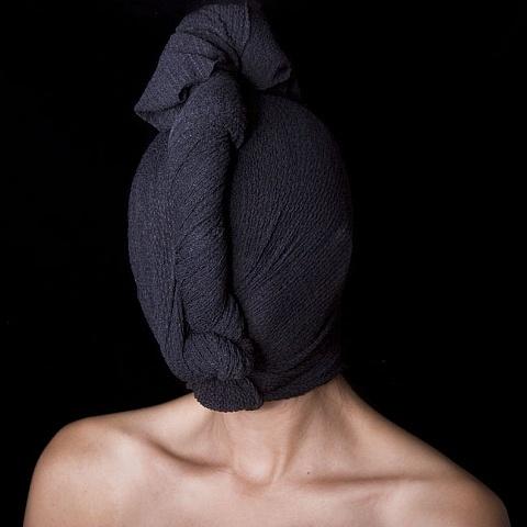 study in black, 1yd of fabric