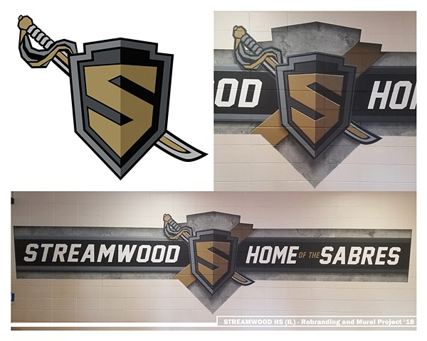 Streamwood Mural - NEW LOGO DESIGN and incorporation into final mural.