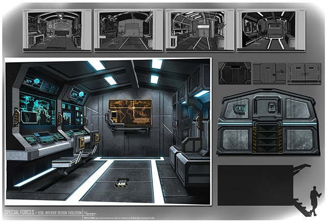 VTOL  Environment Concept: Interior Rear Command