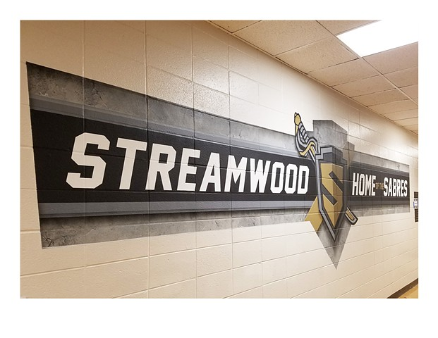 Streamwood Mural - Left View