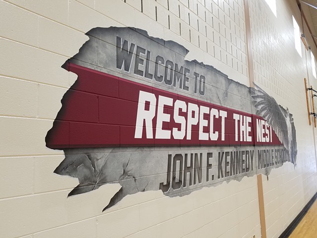 Gym Mural - Left side view