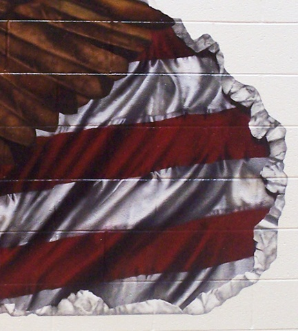 Ira Jones Mural 2 - Flag Detail: Stripes
