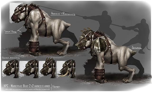 NPC - Market Place Beast 2 w/ Armor