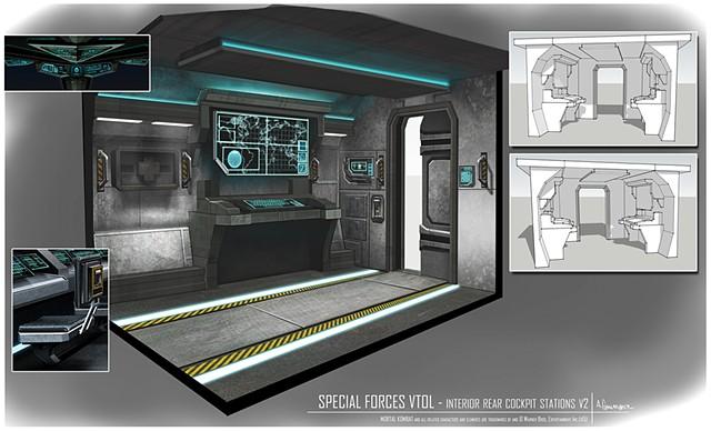 VTOL Environment Concept: Rear Cockpit