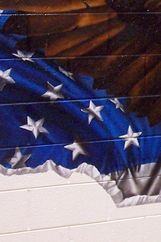 Ira Jones Mural 2 - Flag Detail: Stars