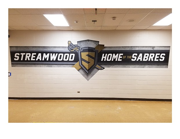 Streamwood Mural - Center View