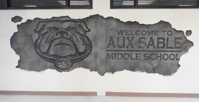 Aux Sable Entrance Mural