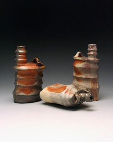331:  Ceramics  II.  Assignment:  Altered Forms.  Soda-Fired, Cone 6.
