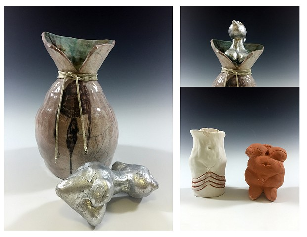 Ceramics I:  Honors Project, Art History.  Fertility Figures.  Raku and Mixed Media.