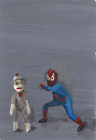 spiderman vs. sockmonkey