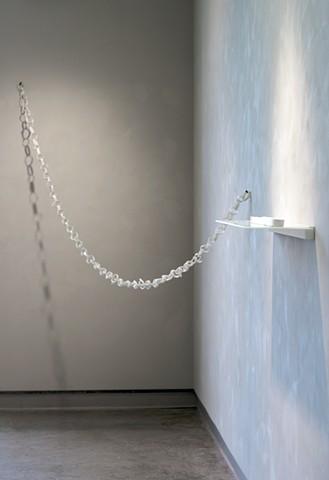 Natalie Shelly - Link - Porcelain, glaze, steel