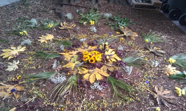 Outdoor Mandala with Natural materials